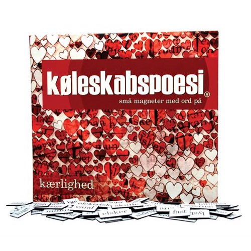 Image of   Køleskabspoesi, kærlighed