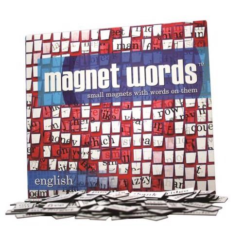 Image of   Magnet words, køleskabspoesi i engelsk udgave