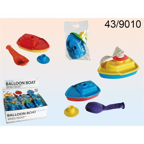 Image of   Ballondrevet båd til badet