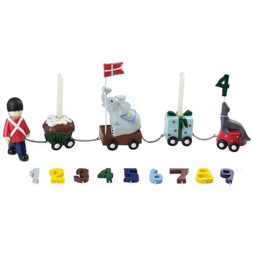 Image of   Friisenborg Fødselsdagstog, m/9 tal, garder, KIDS by FRIIS