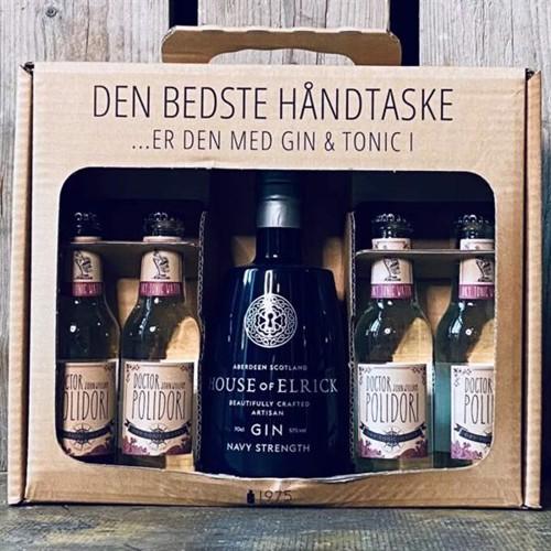 1975bySimon – House of Eldrick Navy Strength Gin Gaveæske inkl. 4×200 ml Tonic