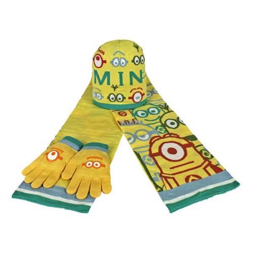 Image of   Minions, Hue, vanter og halstørklæde
