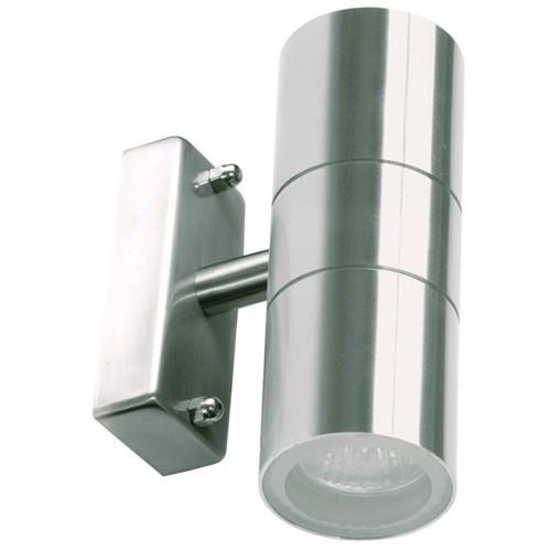 Ranex udendørs vægbelysning i rustfrit stål med 2 lys