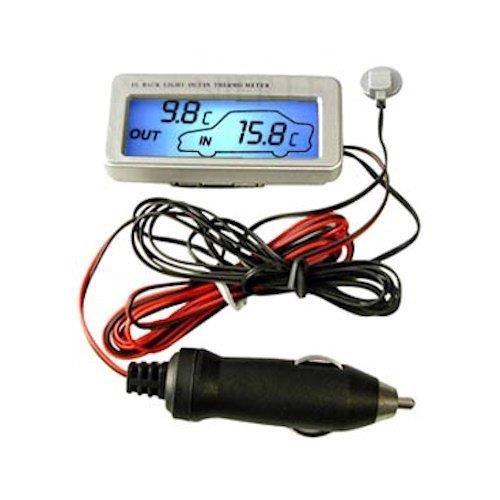 Image of   Indendørs/udendørs termometer til bilen